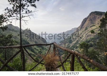 Mountain view landscape in Ella, Sri Lanka - stock photo