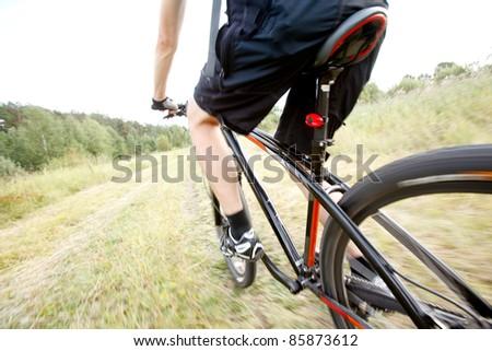Mountainbiker - stock photo