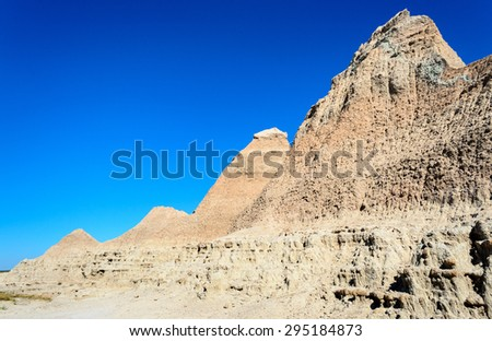 Mountains at Badlands National Park - stock photo