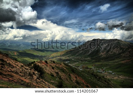 Mountains Chimgan - stock photo