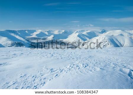 Mountains Hibiny at winter - stock photo