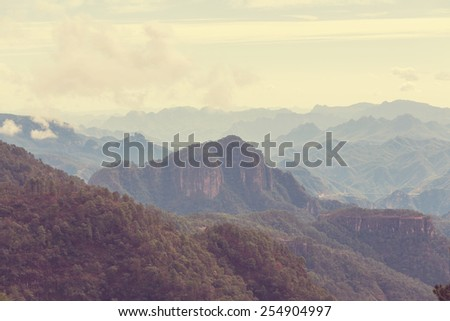 Mountains in Mexico - stock photo