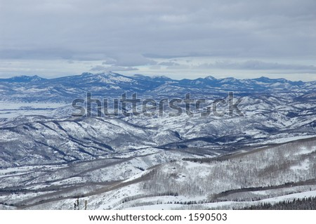 Mountains in Steamboat Springs, colorado, Usa - stock photo