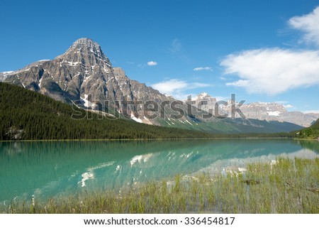 Mountains in the Canadian Rockies in Banff National Park, Alberta, Canada - stock photo