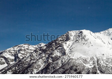 Mountains in the night - stock photo