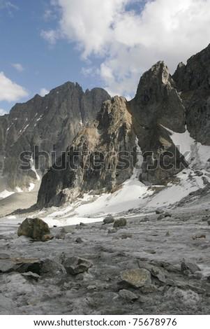 Mountains in the Transbaikalia. Russia - stock photo