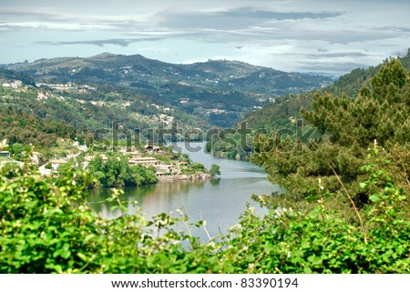 Mountains landscape of Douro Valley, Portugal. - stock photo