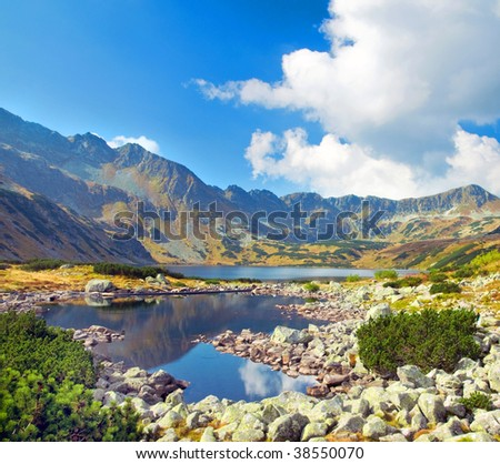 Mountains landscape. Tatra colorful picture - stock photo
