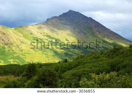 Mountains near Anchorage Alaska - stock photo
