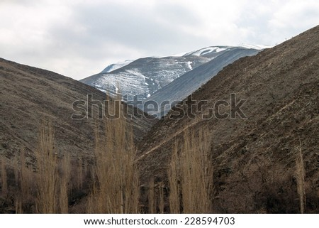 Mountains near Mashhad, Iran - stock photo
