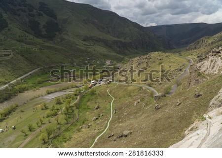 Mountains near Vardzia, Georgia - stock photo
