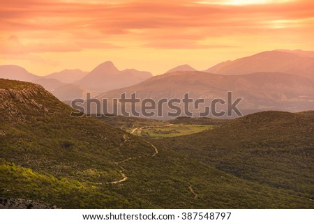 Mountains of National park Verdon in France - stock photo