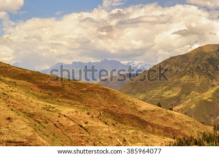 Mountains of the Andes of Peru, South America - stock photo