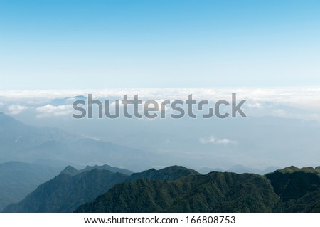 mountains on the horizon - stock photo