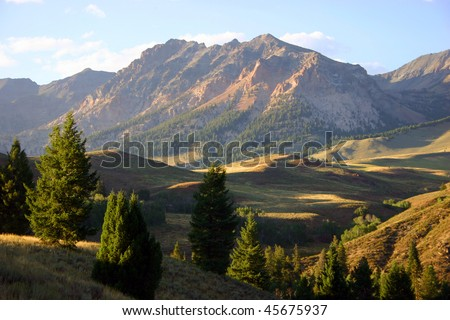 Mountains outside of Sun Valley, Idaho - stock photo