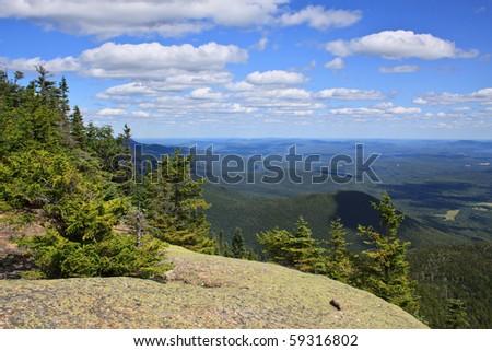 mountaintop view - stock photo