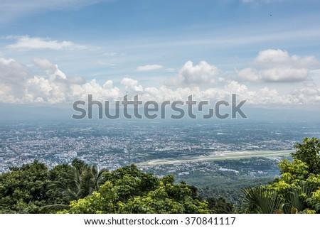 Mountaintop View From Wat Phra That Doi Suthep - stock photo