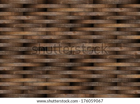 mounted wooden floor illustration made from small planks of weathered wood - stock photo