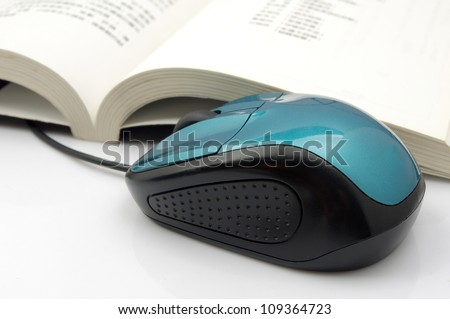 Mouse and books - stock photo
