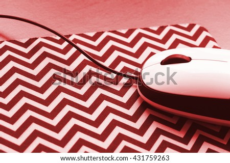 Mouse as blurred digital background - stock photo