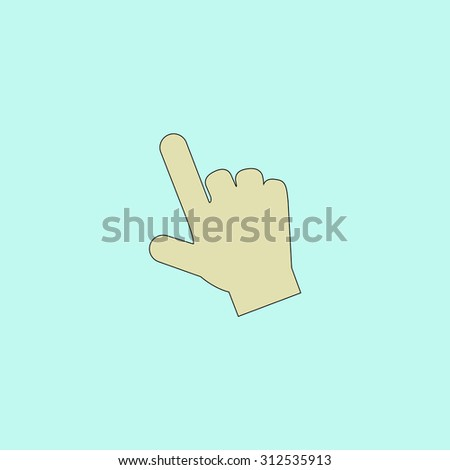 Mouse hand cursor. Flat simple line icon. Retro color modern illustration pictogram. Collection concept symbol for infographic project and logo - stock photo