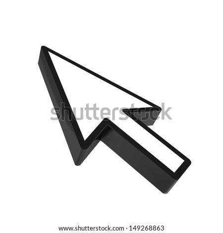 mouse pointer - stock photo