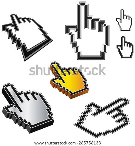Mouse Pointer - Illustration - stock photo