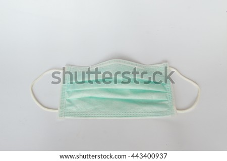 mouth mask on white background,isolate - stock photo