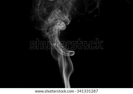 Movement of smoke,white smoke on black background, white smoke on black background, smoke background,white ink background,smoke background ,beautiful white smoke,B&W - stock photo