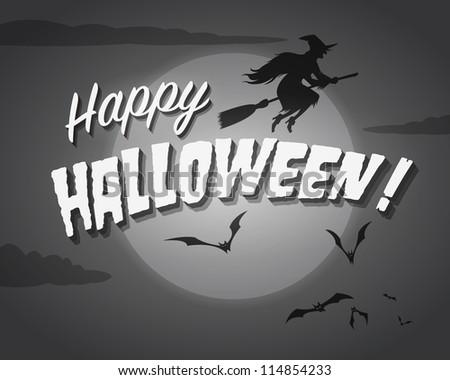Movie ending screen - Happy Halloween - JPG Version - stock photo