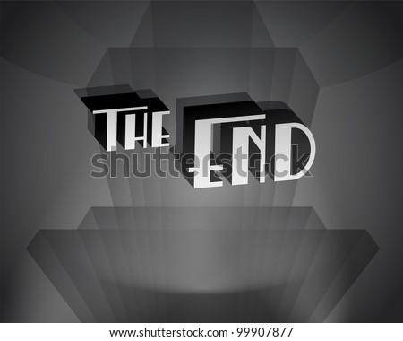 Movie ending screen - JPG Version - stock photo
