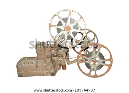 Movie Film Projector - stock photo