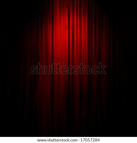 Movie or theater curtain with center focus - stock photo