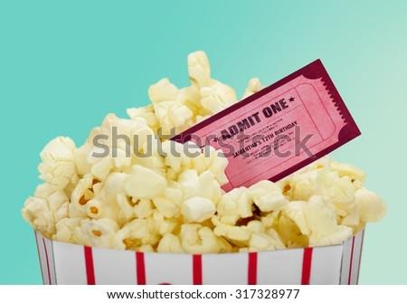 Movie Popcorn. - stock photo
