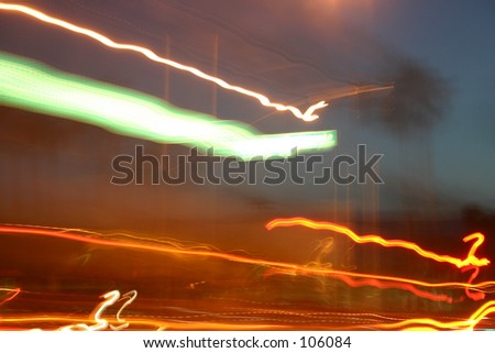 moving down a california street abstract - stock photo