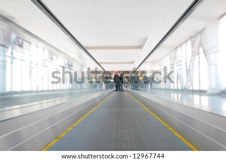 moving path - stock photo