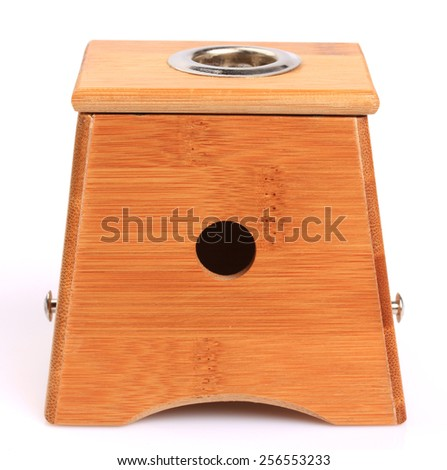 Moxibustion box isolated on white background - stock photo