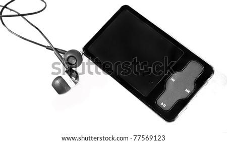 mp3 and earphones - stock photo
