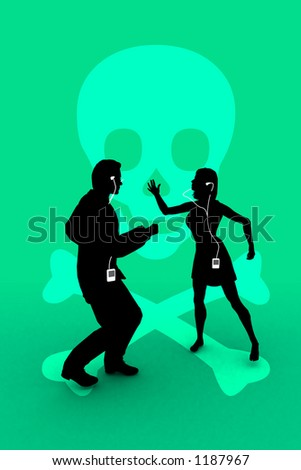 mp3 music piracy - stock photo