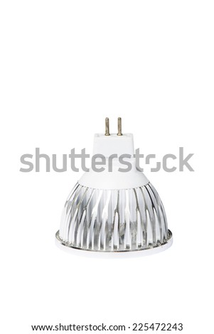 MR16 type LED Light bulb, isolated on white - stock photo