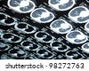 MRI of human brain - stock photo