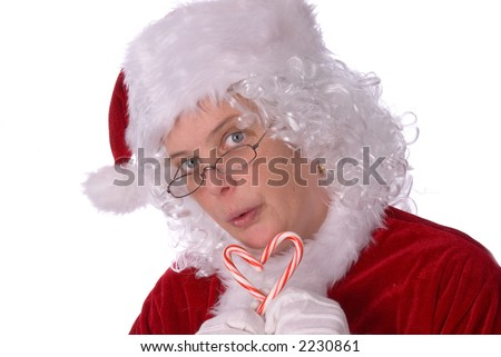 Mrs. Claus is very sweet on you - stock photo