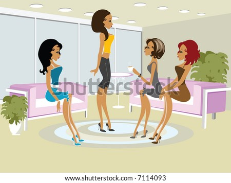 Mss Boo having fun with her friends - stock photo