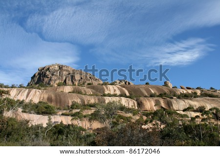 Mt Amos, Freycinet National Park, Tasmania, Australia - stock photo