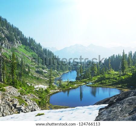 Mt Baker area - stock photo