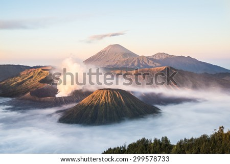 Mt.Bromo in Tengger Semeru National Park, East Java, Indonesia - stock photo