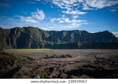 Mt.Bromo Volcano, Indonesia - stock photo