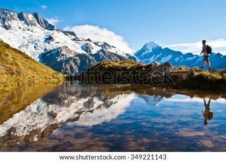 Mt. Cook - stock photo
