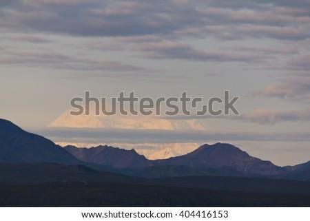 Mt. Denali in evening light - stock photo