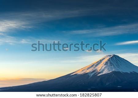 Mt.Fuji forms a cloud. - stock photo
